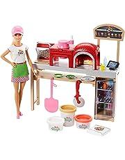 Barbie Quiero Ser pizza chef, muñeca y accesorios (Mattel FHR09)