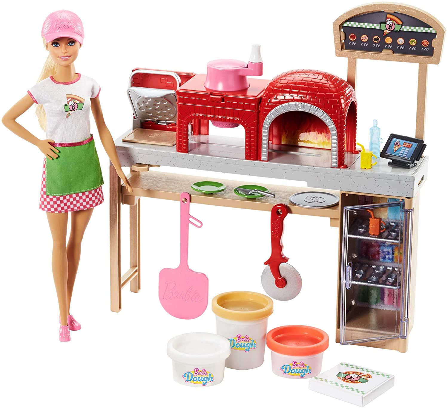 Barbie Pizza Chef Doll and Playset, Blonde