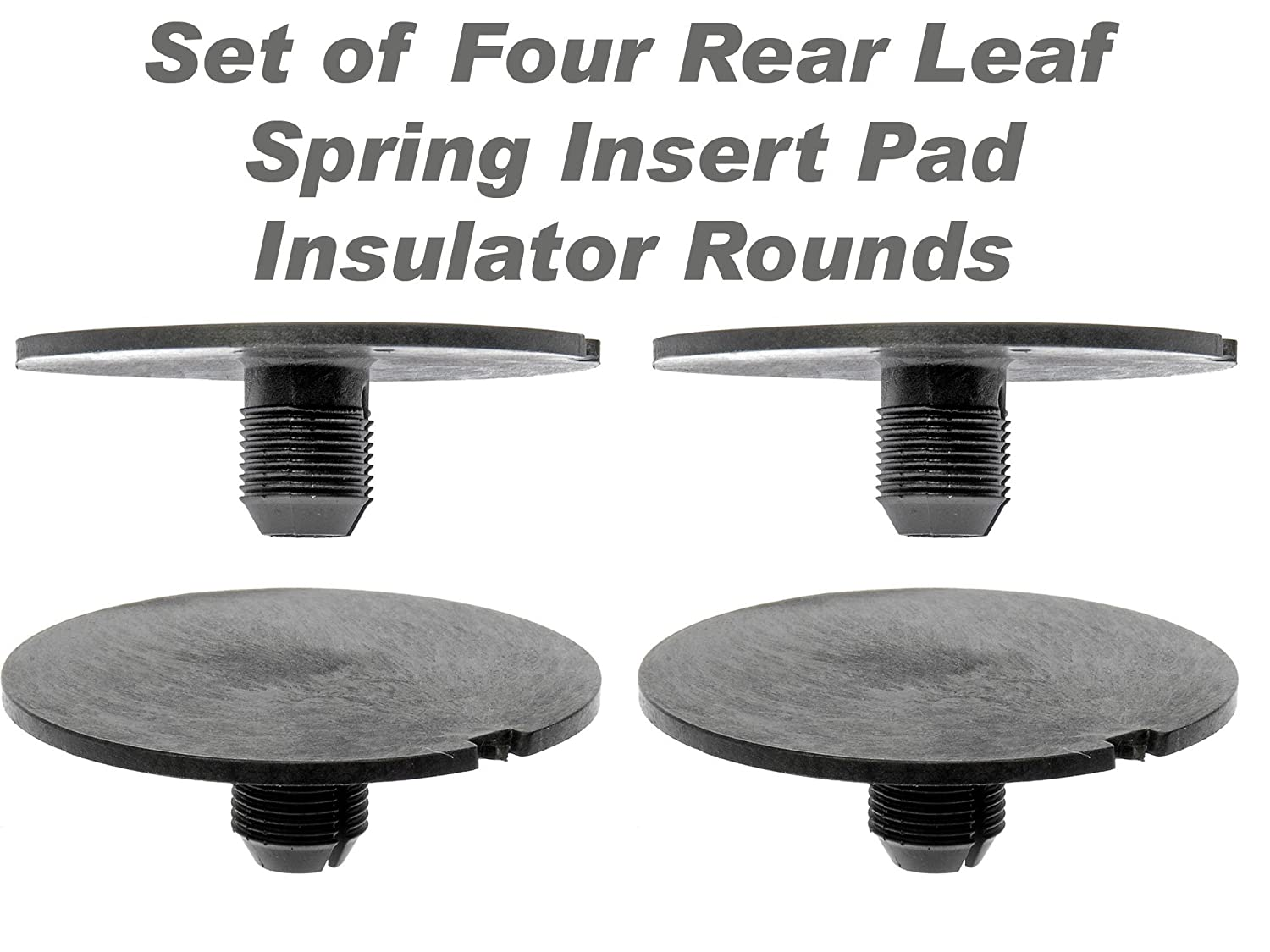 APDTY 035181 Rear Leaf Spring Plastic Insert Pad Spacer Insulator Round Set Of 4 Fits 1998-2011 Chevy GMC Trucks (Replaces GM 20870046)
