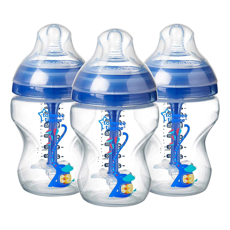Tommee Tippee Anti-Kolik-Flasche f/ür Stillen ab 0 Monaten BPA-frei