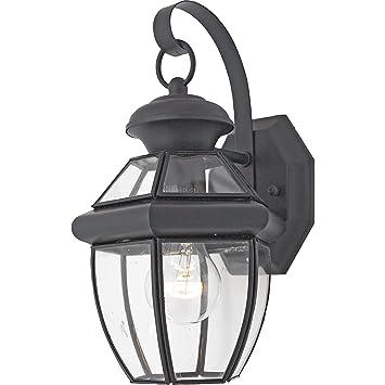quoizel ny8315k newbury light outdoor wall lantern mystic black