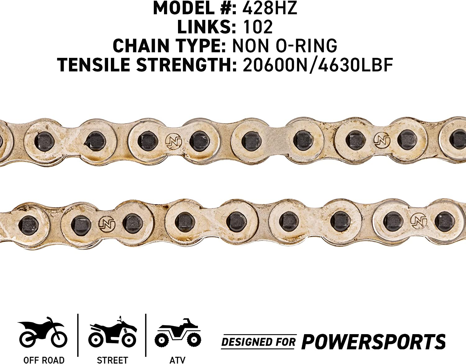 NICHE 428 Drive Chain 92 Links Standard Non O-Ring with Connecting Master Link