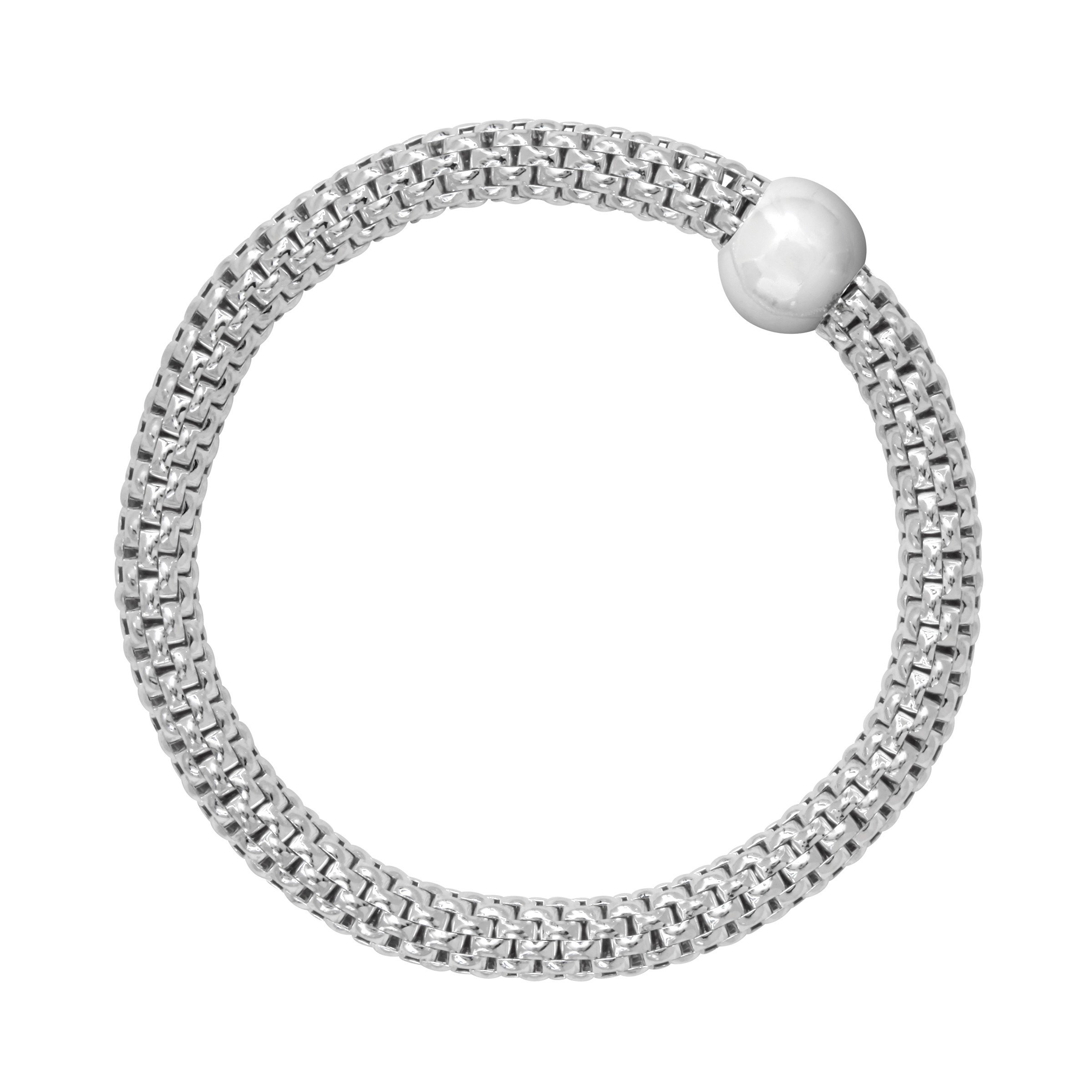 Silpada 'Chic' Sterling Silver Stretch Bracelet, 7-7.75'' by Silpada