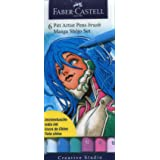 Faber-Castell 167130 - Tuschestift Pitt artist pen brush -Manga Shôjo- 6er Packung