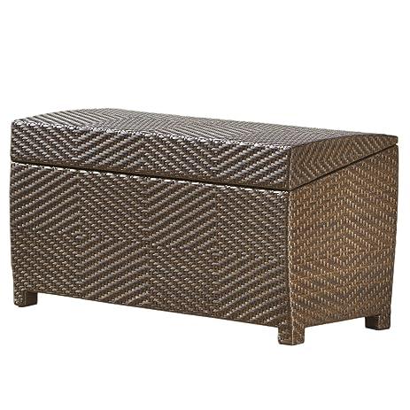 Captivating Deck Storage Box Waterproof Patio Furniture Storage Ottoman Bin Poolside  Storing