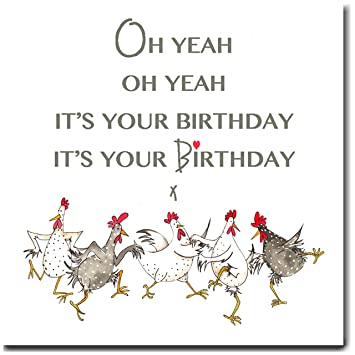 Oh yeah oh yeah its your birthday chicken greeting card amazon oh yeah oh yeah its your birthday chicken greeting card bookmarktalkfo Choice Image
