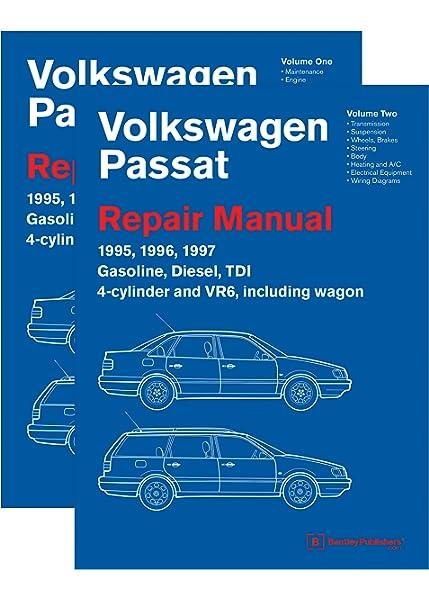 volkswagen passat (b4) repair manual: 1995, 1996, 1997 (2 volume set):  volkswagen of america: 9780837617534: amazon.com: books  amazon.com