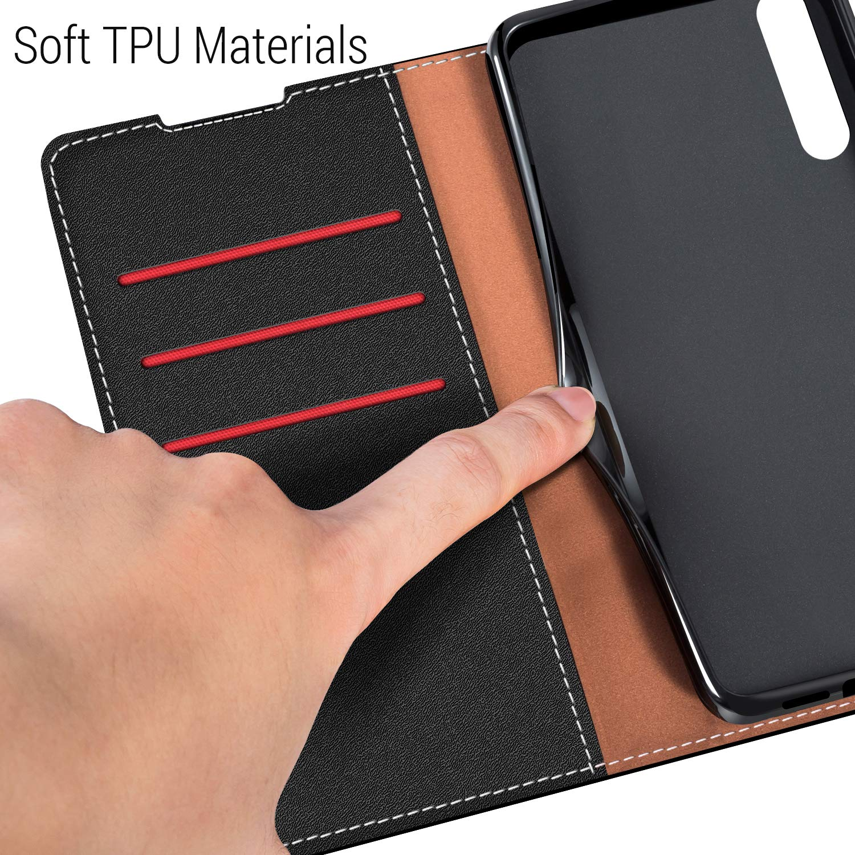 Azul Oscuro//Rojo Funda Cuero Xiaomi Mi 9 COODIO Funda Xiaomi Mi 9 Funda Cartera Xiaomi Mi 9 Case con Magn/ético//Billetera//Soporte para Xiaomi Mi 9