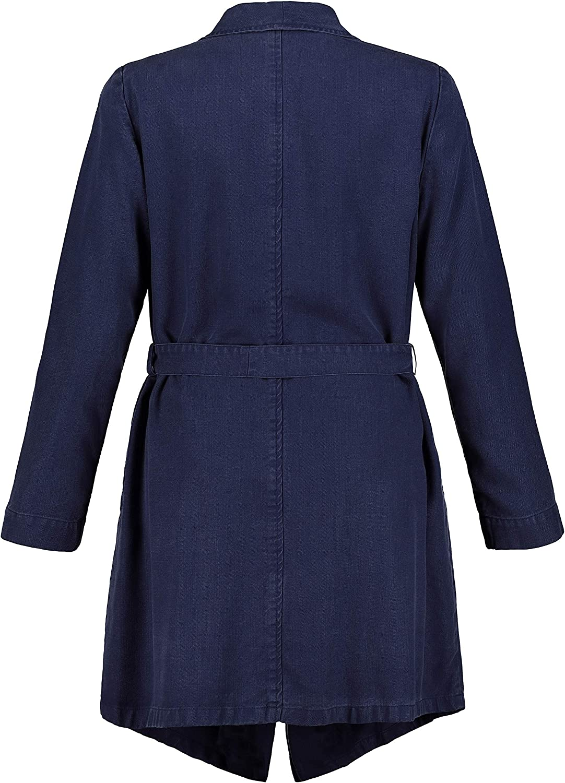 Ulla Popken Damen große Größen Trenchcoat 727357 Blau (Nachtblau 72735779)