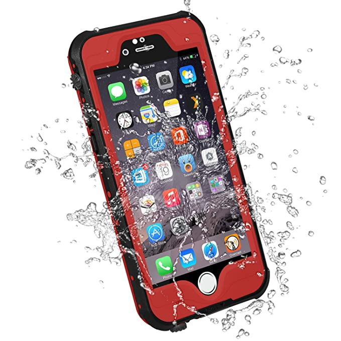 low priced 7b56a b0e0e HESGI iPhone 6S PLUS Waterproof Case, IP-68 Waterproof Shockproof Dust  Proof Snow Proof Full Body Protective Case Cover for Apple iPhone 6S PLUS  ...