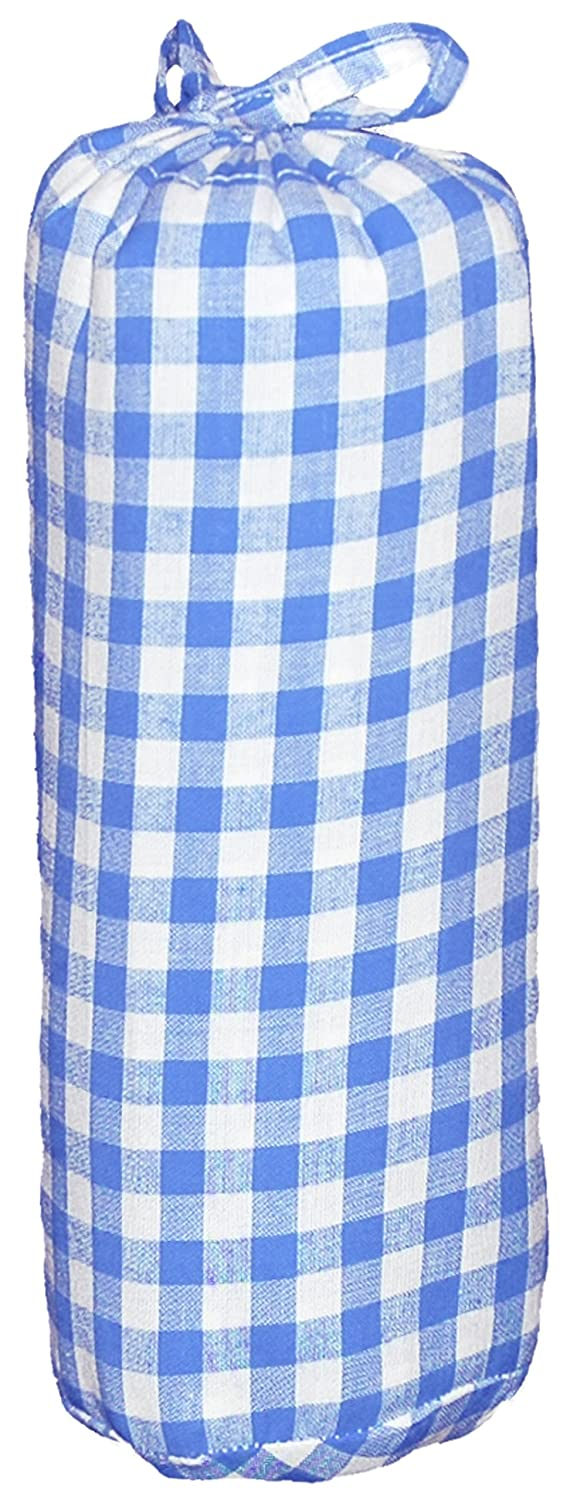 Taftan Checks 7mm Fitted Sheet 70 x 140cm (Big, Purple) HD-217