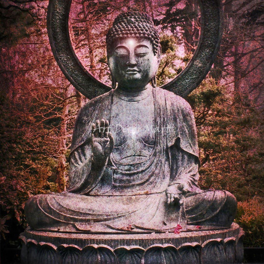 Buddha Blessing - CANVAS Austin Mall ART Charlotte Mall OR PRINT WALL