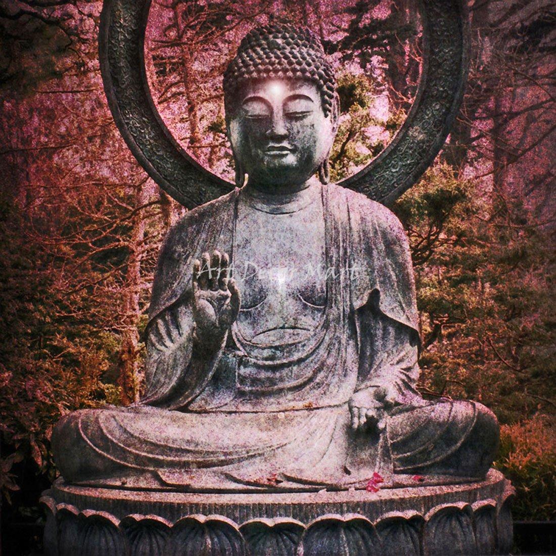 Buddha Blessing – キャンバスまたは壁アートプリント Fine Paper - 40 x 40 Fine Paper - 40 x 40  B008GI5GHK