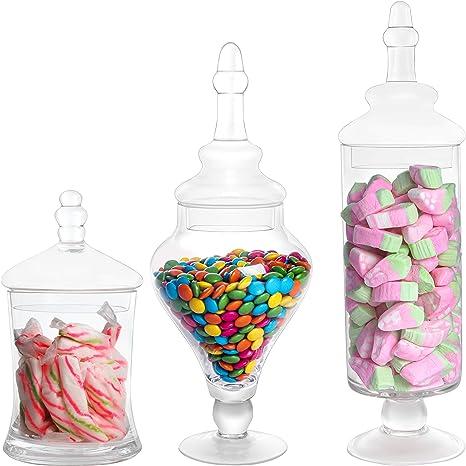 Bonboniere aus Glas mit Deckel Shabby H25cm Konfekt Vorratsdose Vorratsglas Deko