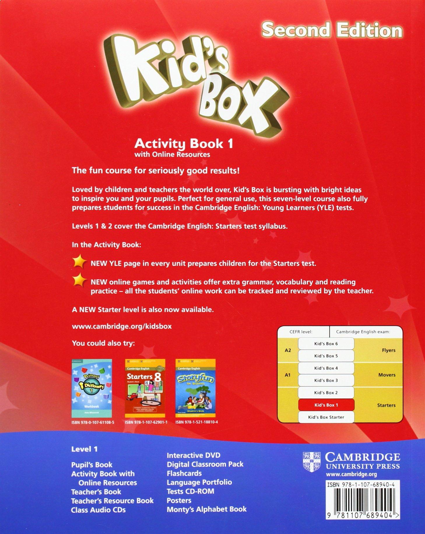 Kid's Box Level 1 Activity Book with Online Resources Second Edition -  9781107689404: Amazon.es: Caroline Nixon, Michael Tomlinson: Libros en  idiomas ...