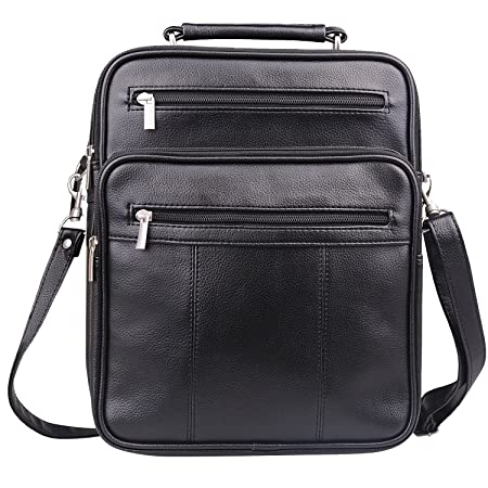 780edebb65 Jack Chris® Mens Leather Cross Body Handbag Single-Shoulder Briefcase Messenger  Bag