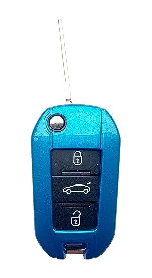 CK + Peugeot ABS Auto de llave Key Cover Case Funda para 208 308 2008 3008 5008