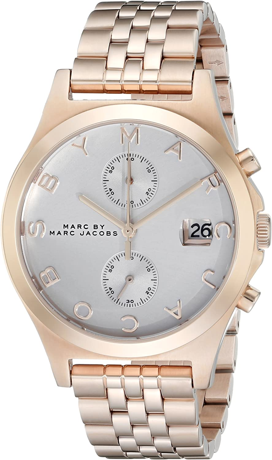 Marc by Marc Jacobs Women's MBM3380 Rose Gold-Tone Stainless Steel Bracelet Watch