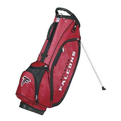 d43ac16a898 Amazon.com   Wilson NFL Atlanta Falcons Carry Golf Bag, Red Black ...