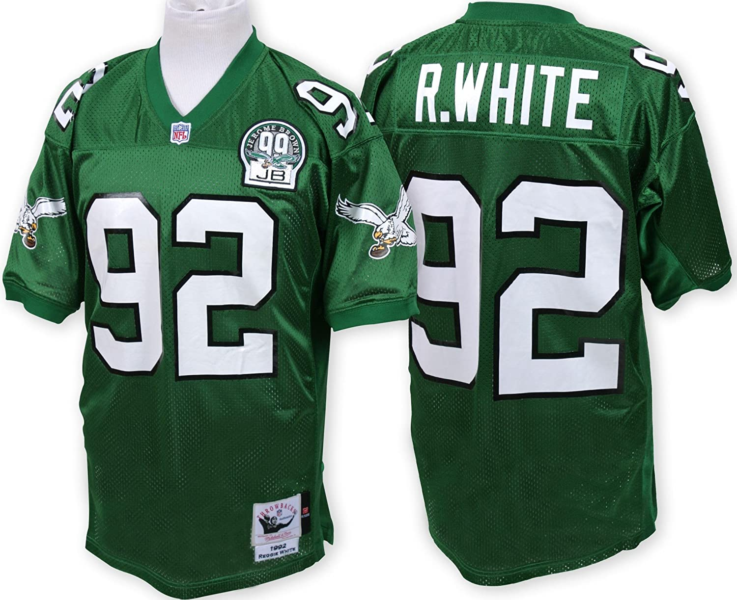 Jersey Amazon White 1992 Eagles Philadelphia Sports com Ness Nfl Green Authentic Mitchell Outdoors amp; Reggie