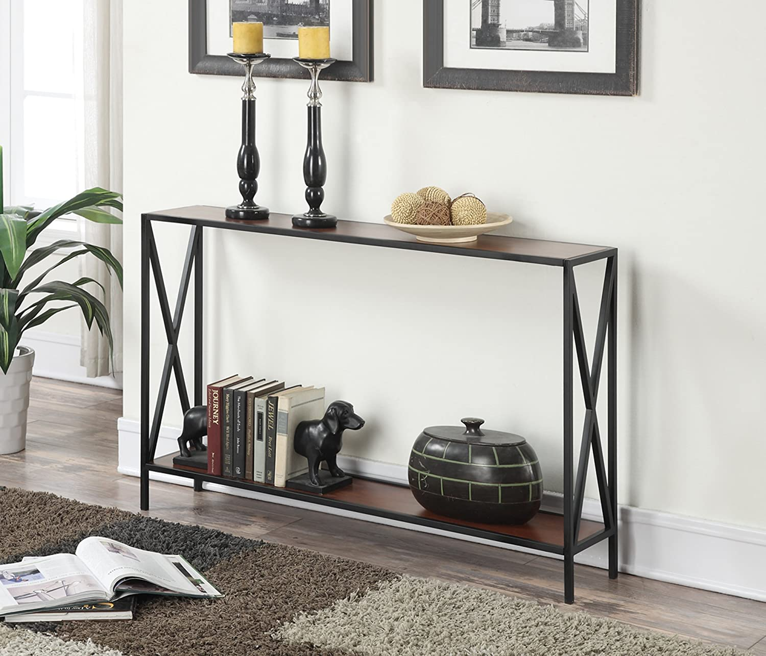 Amazon convenience concepts tucson collection console table amazon convenience concepts tucson collection console table blackcherry kitchen dining geotapseo Choice Image