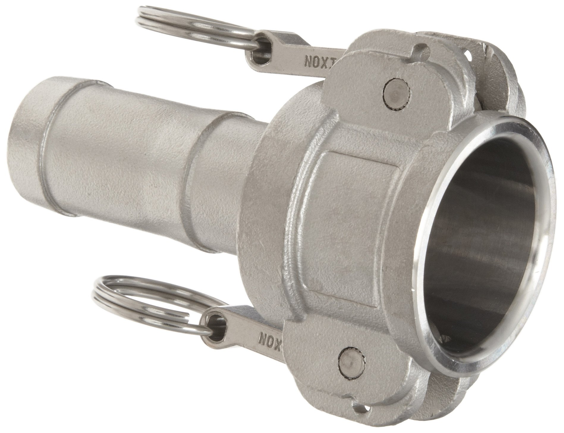 Dixon G600-C-SS Investment Cast Stainless Steel 316 Global Type C Cam and Groove Hose Fitting, 6'' Socket x 6'' Hose ID Push-On