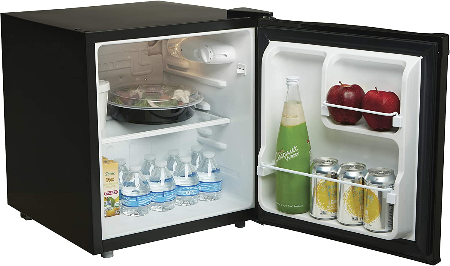 Proctor Silex 1.7 Cu Ft Compact Refrigerator, Single Door Mini Fridge for Dorm, Office, Bedroom, Black (86103A)