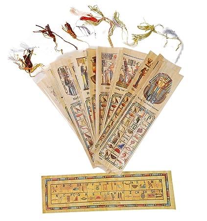 Amazon Irse Office Lot Of10 Egyptian Genuine Papyrus Bookmark