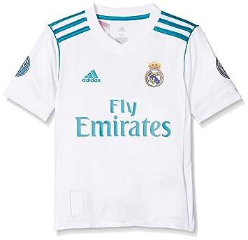 adidas H JSY UCL Youth Camiseta 1ª Equipación Real Madrid 2017-2018 LFP- Champions 73dd3769b04c5