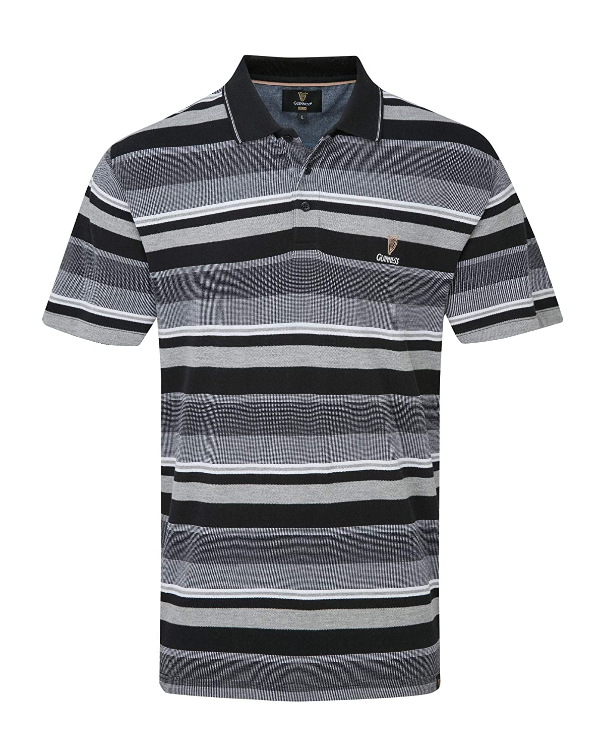 a2559737897 Cotton Traders Mens Short Sleeve Casual Striped Cotton Guinness Embroidered  Polo Shirt: Amazon.co.uk: Clothing