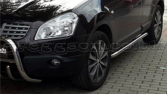 Nissan Qashqai acero inoxidable barras laterales 2014: Amazon.es: Coche y moto