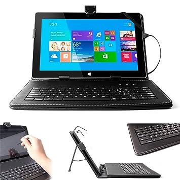 DURAGADGET Teclado INGLÉS Con Conexión USB Para Microsoft Surface RT 2 / RT/Pro 2 / Pro + Puntero Stylus