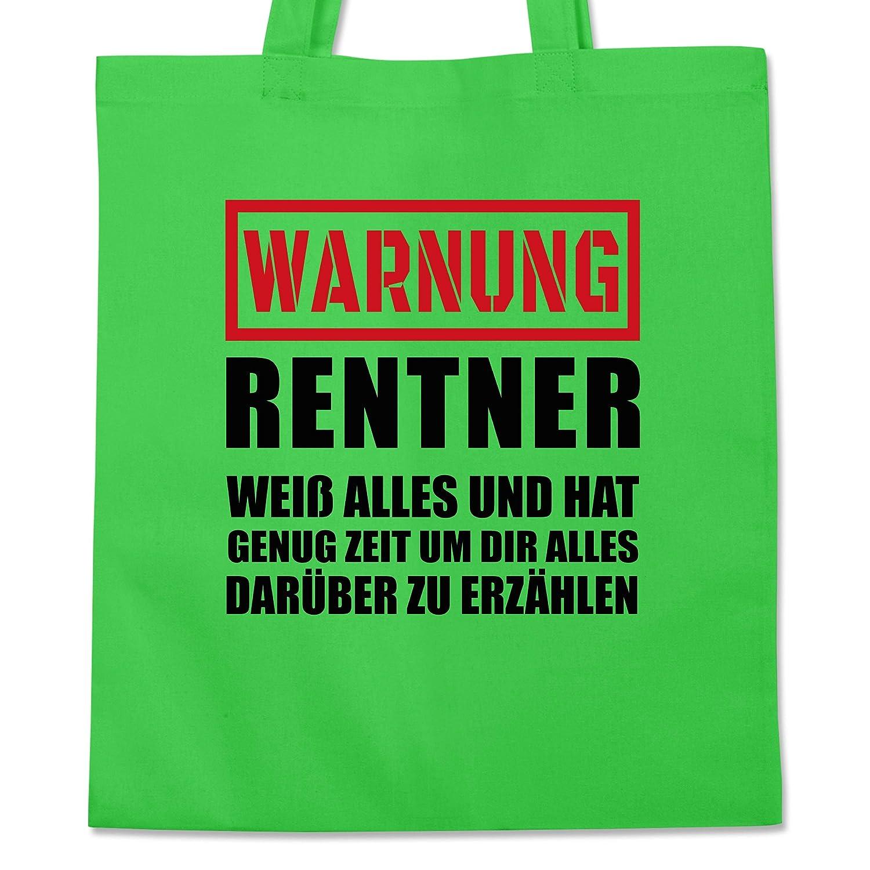 Warnung Statement Shirts Rentner der alles wei/ß Stoffbeutel aus Baumwolle Jutebeutel lange Henkel