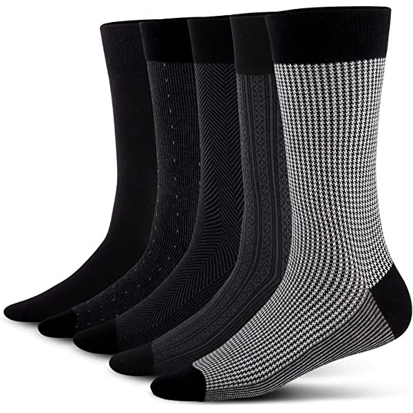 Image result for YOUNEEDTHAT 5-Pack Men's Classics Dress Flat Knit Crew Socks Multipacks