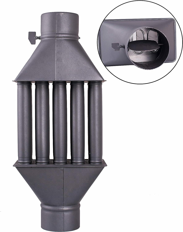 Intercambiador de calor de chimenea Diplomat/Intercambiador de aire caliente, enfriador de gas de escape, diámetro de 130 m, 5 tubos con amortiguador
