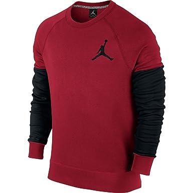 Jordan The Varsity Crew Men's Sweatshirt Gym Red/Black 689002-687 (Size L