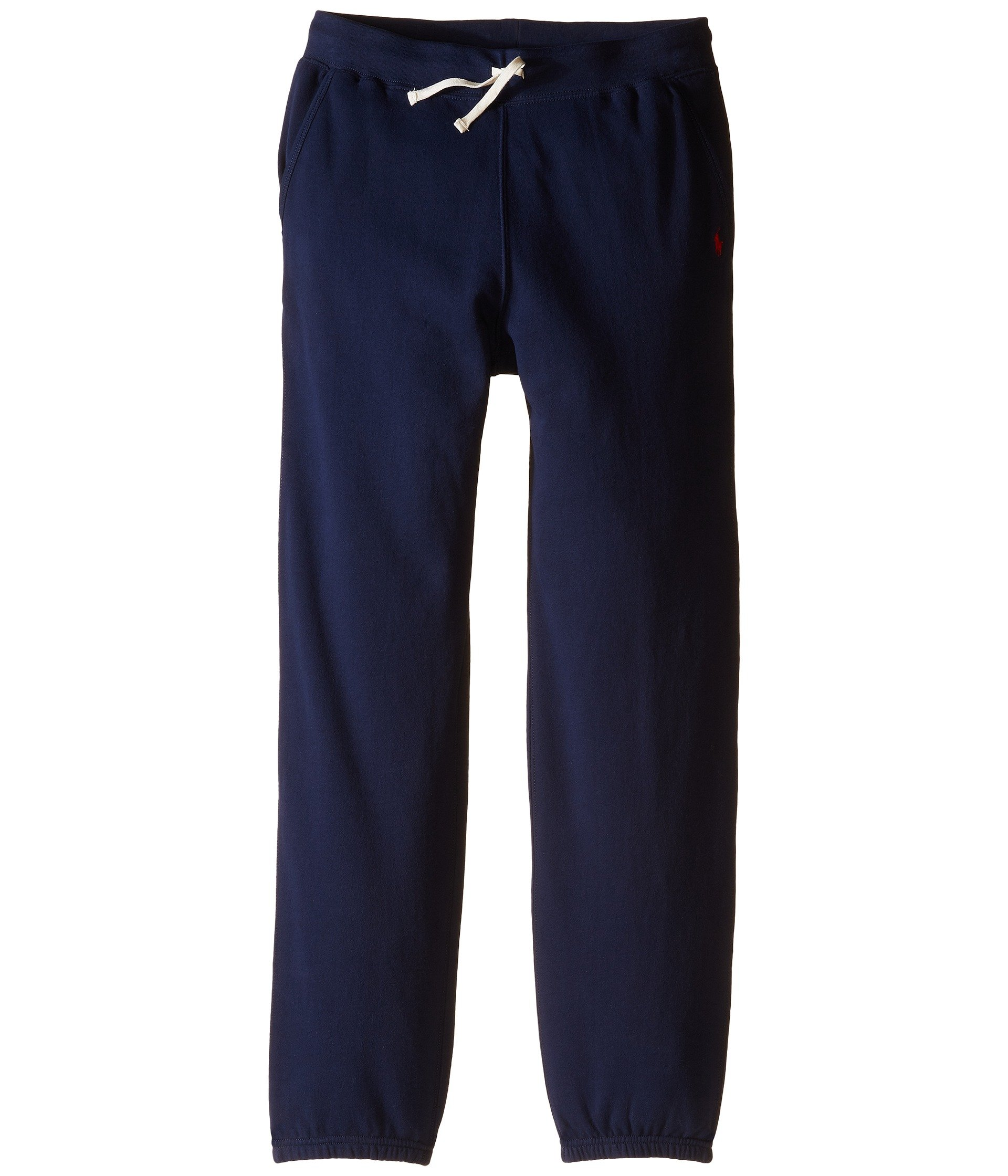 Polo Ralph Lauren Kids Collection Fleece Pull-On Pants Casual Pants (S(8), Navy (Red Pony))