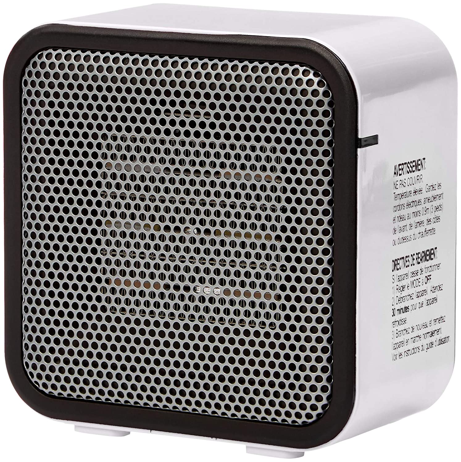 AmazonBasics 500-Watt Ceramic Personal Heater - White