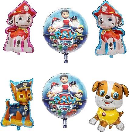 Amazon.com: 6 globos de patrulla de perro para fiestas ...