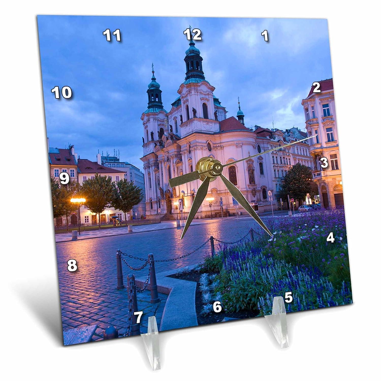Prague 6 By 6 Inch Czech Republic Eu06 Sws0041 Stuart Westmorland Desk Clock 3drose Dc 81240 1 Old Town Square
