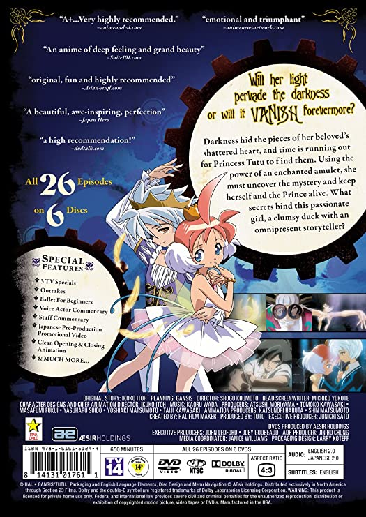 56b3d1714 Princess Tutu: Complete Collection (3rd release): Amazon.ca: DVD