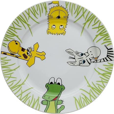 WMF Safari - Plato para niños de porcelana, Ø19cm (WMF