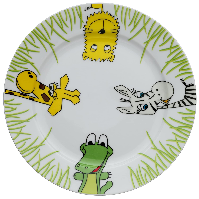 farb- und lebensmittelecht WMF Safari Kindergeschirr Kinderteller /Ø 19,0 cm sp/ülmaschinengeeignet Porzellan
