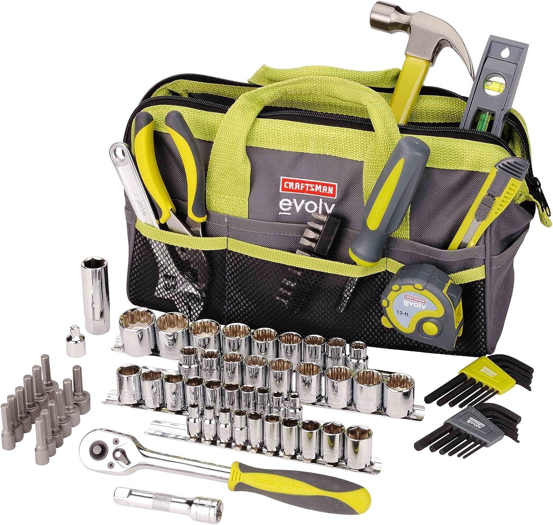 Craftsman Evolv 83 piezas. Homepropietario Juego de herramientas con bolsa: Amazon.es: Bricolaje y herramientas