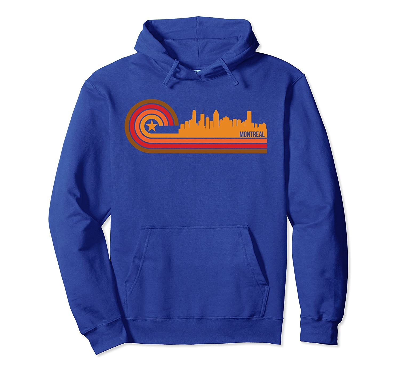 Retro Style Montreal Quebec Canada Skyline Hoodie-alottee gift
