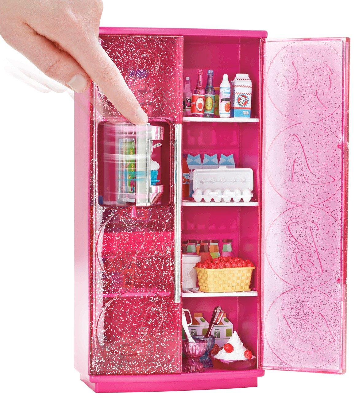 Mattel T9081 - Barbie Möbel: Kühlschrank mit Softeis-Bereiter ...