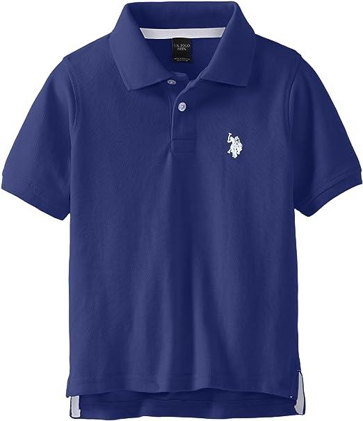 U.S. Polo Assn. Little Boys Toddler Short Sleeve Pique Polo Shirt ...