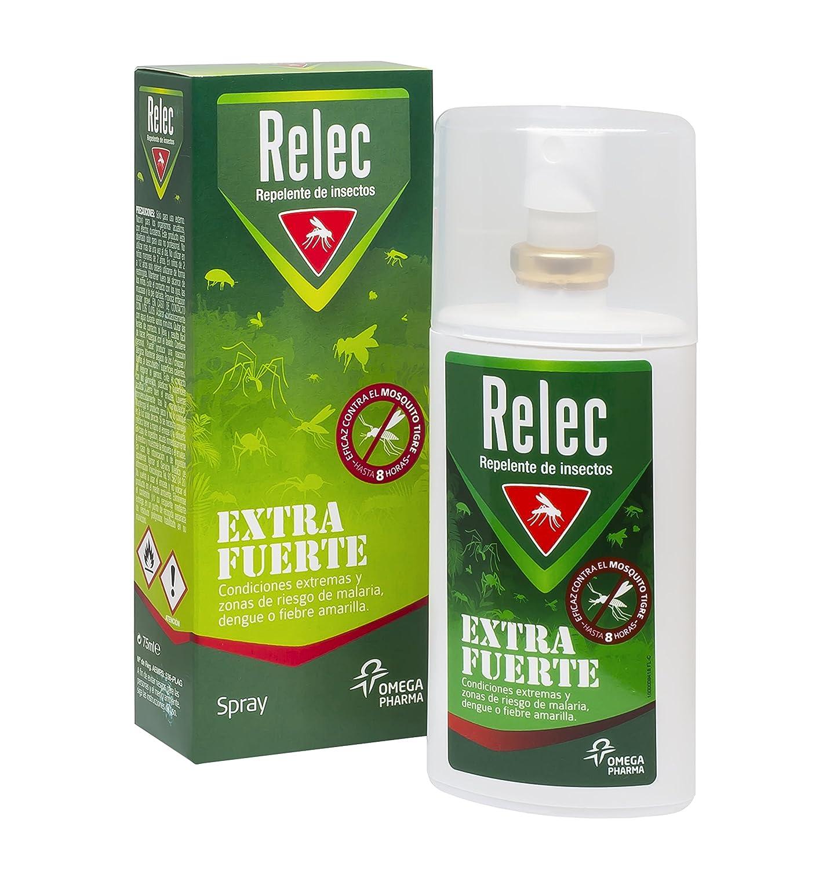 Relec Extra Fuerte Spray Antimosquitos - 75 ml: Amazon.es: Salud y ...