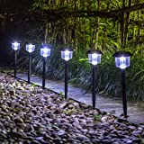 GIGALUMI Solar Lights Outdoor Garden Led Light Landscape / Pathway Lights 6  Pack