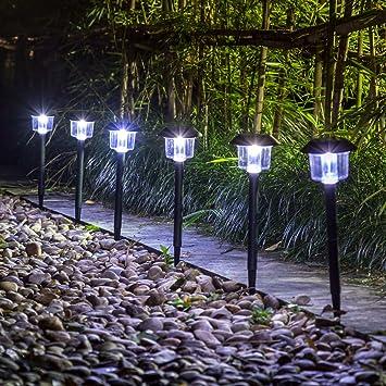 GIGALUMI Solar Lights Outdoor Garden Led Light Landscape / Pathway Lights 6  Pack